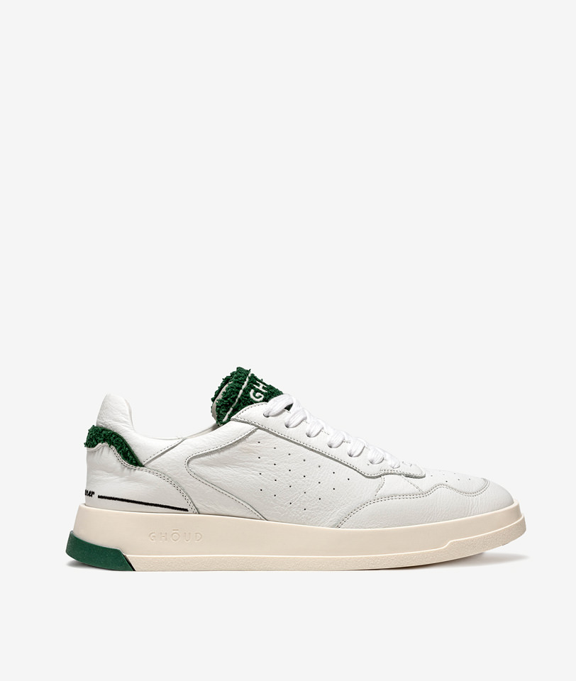 GHOUD: TWEENER LOW BIANCO VERDE