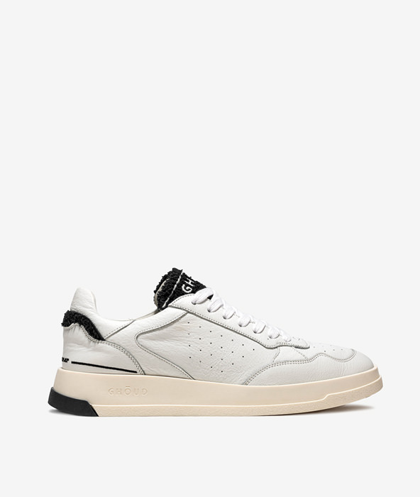 GHOUD TWEENER LOW BIANCO NERO